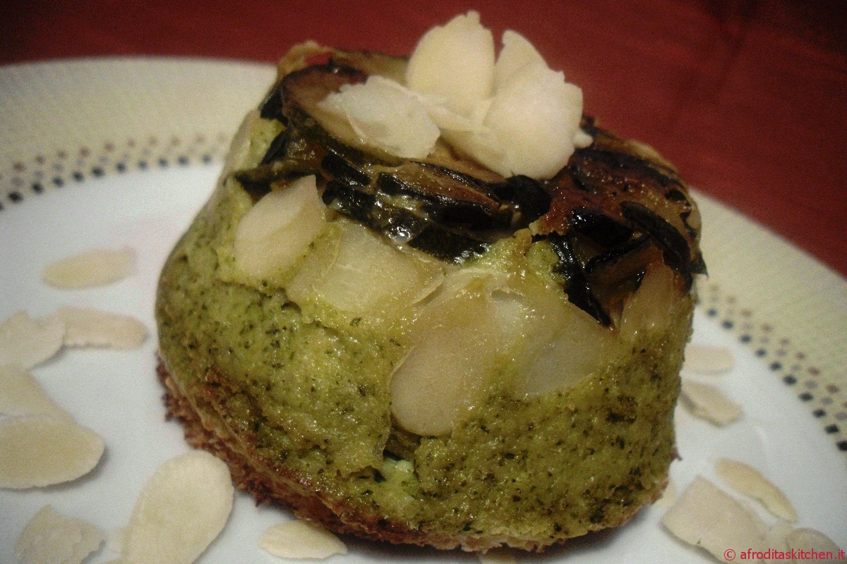 Sformatini di zucchine fontina e mandorle