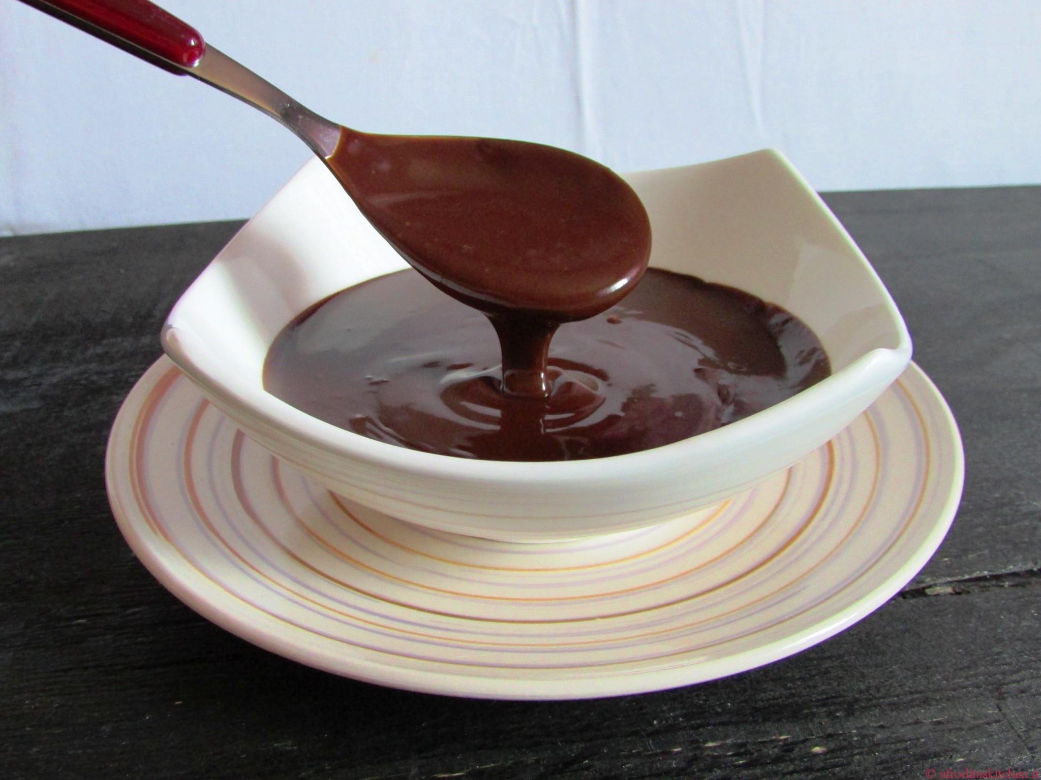 Ganache al cioccolato liscia