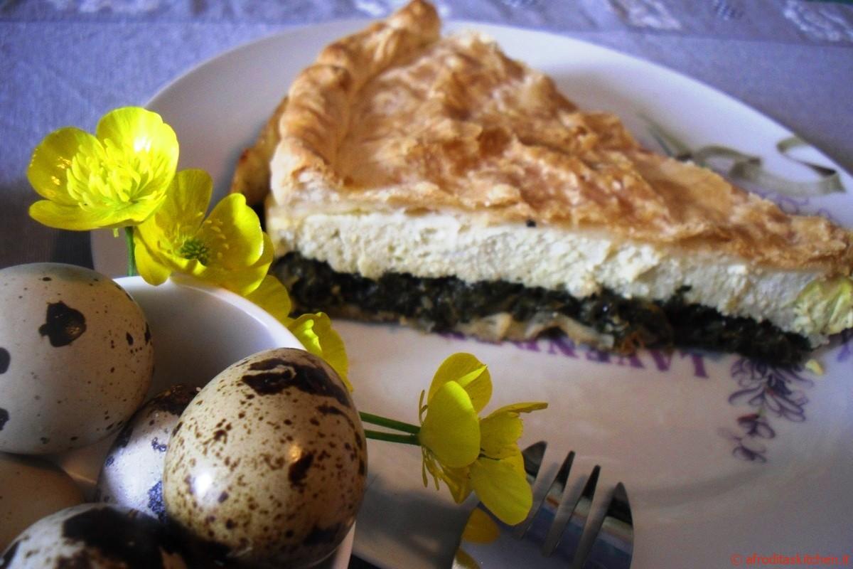 Torta pasqualina con uova di quaglia
