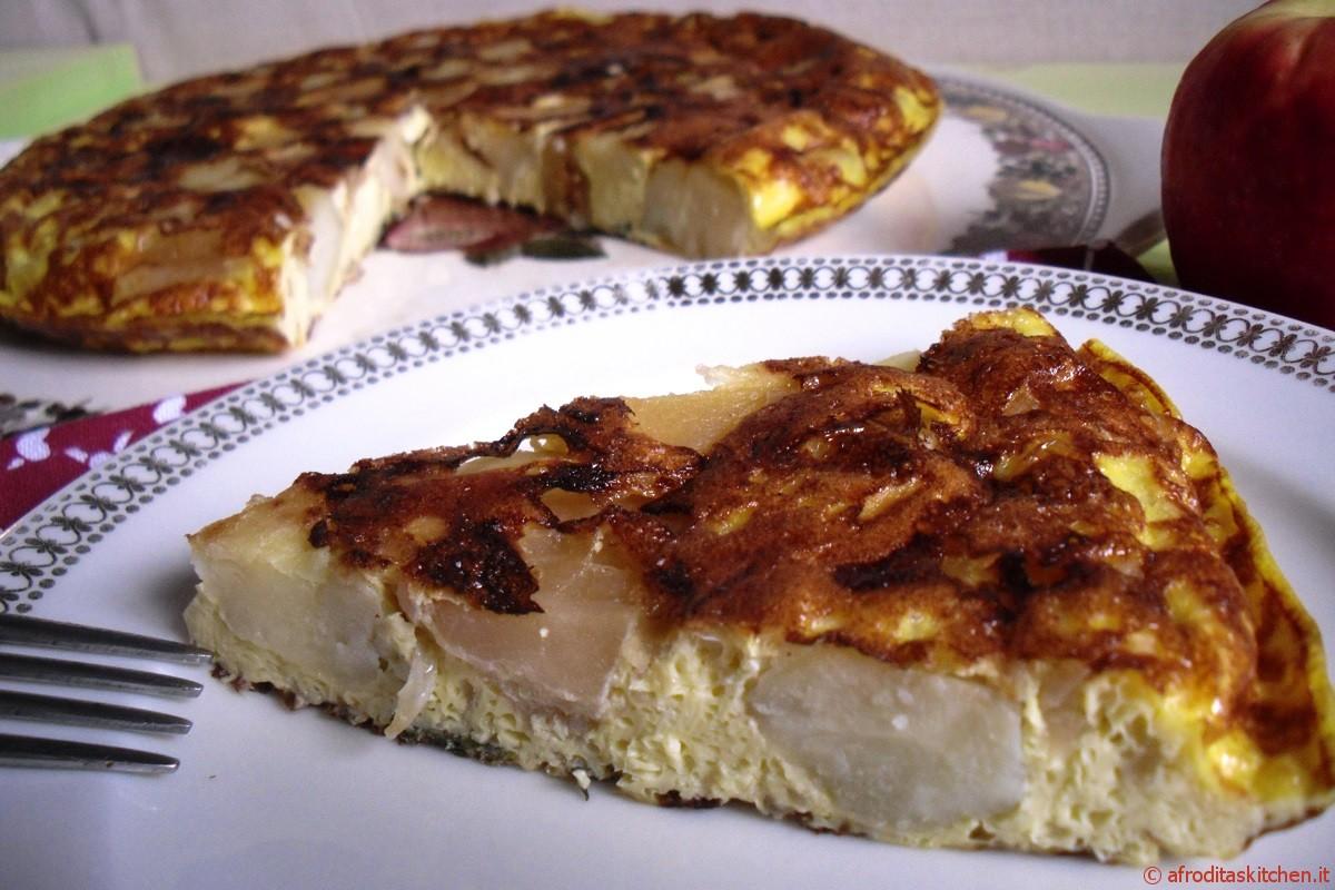 Tortilla di patate e mele