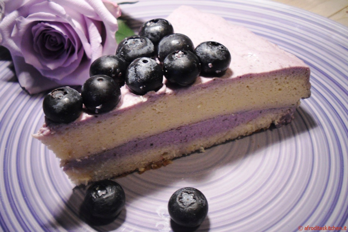 Japanese cotton cheesecake ai mirtilli