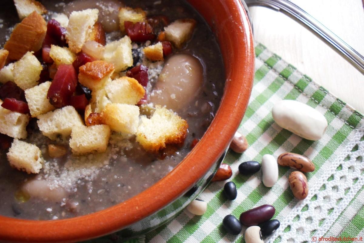 Zuppa di fagioli e speck
