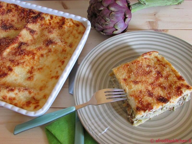Lasagne primaverili con carciofi e robiola