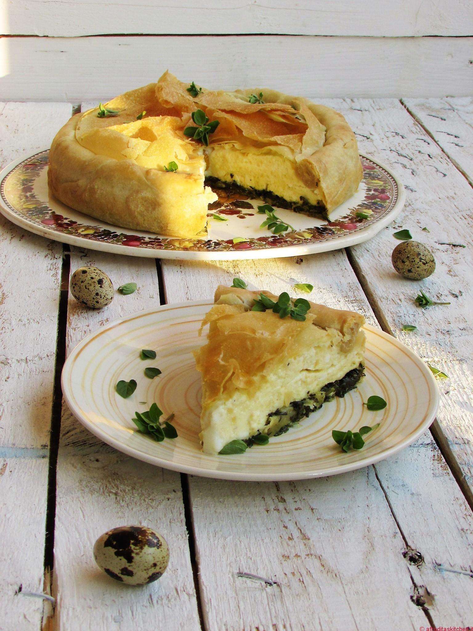 Torta pasqualina con uova di quaglia, bietoline ed agretti per il Calendario del Cibo Italiano