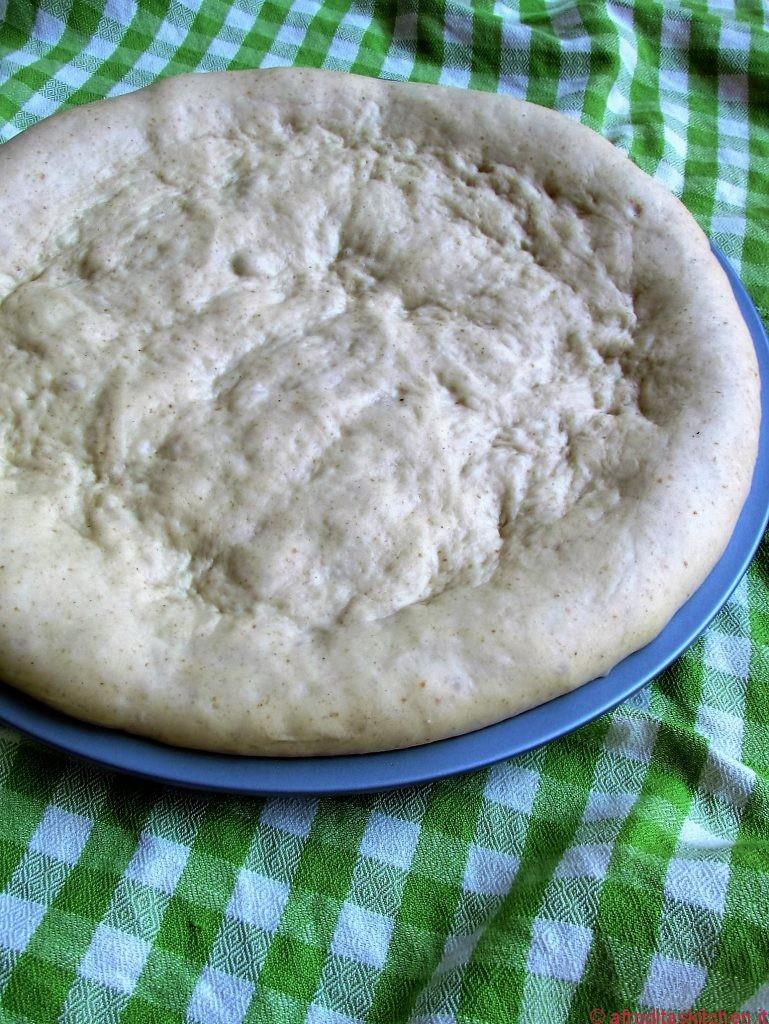 Impasto lievitato pizza in teglia